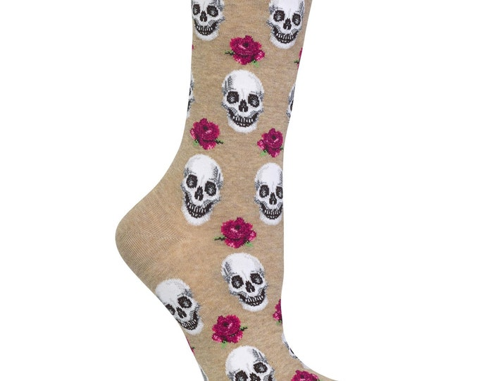 Skull and Roses Socks