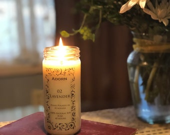 100% Soy Lavender Candle
