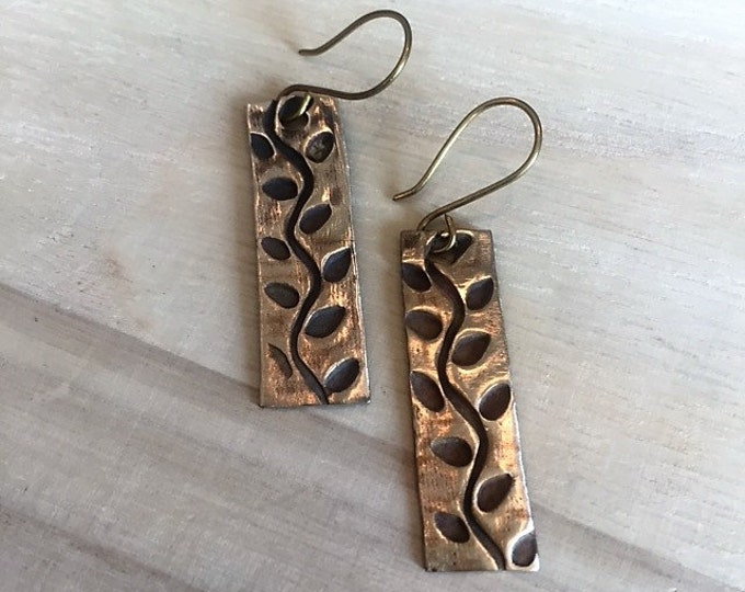 Handcrafted Vine Earrings