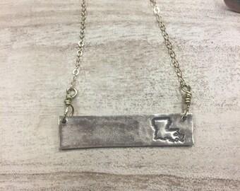 Louisiana Bar Necklace