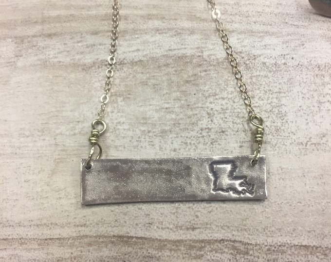 Louisiana Bar Necklace