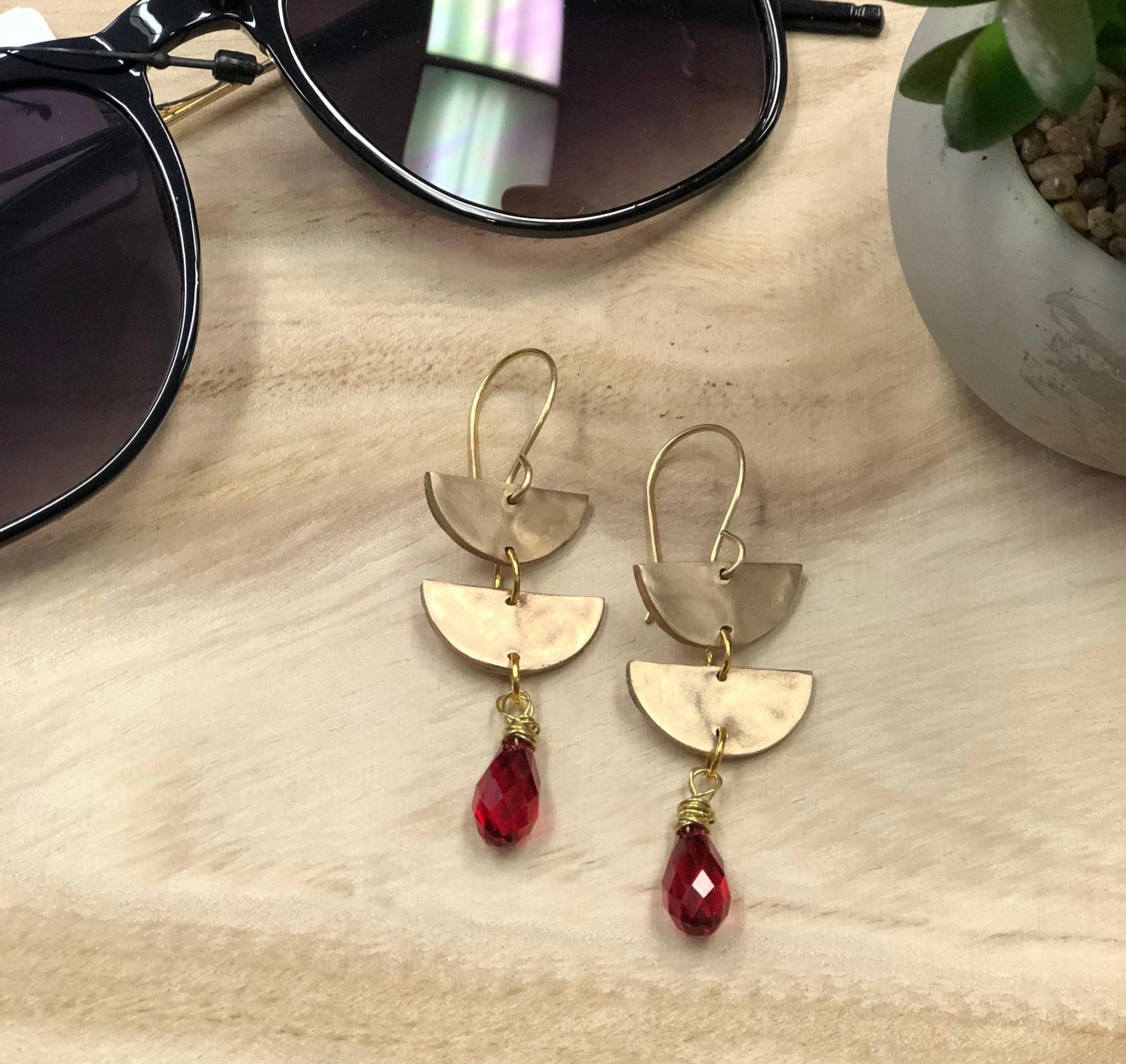 7321e7625 Half Moon Swarovski Crystal Earrings