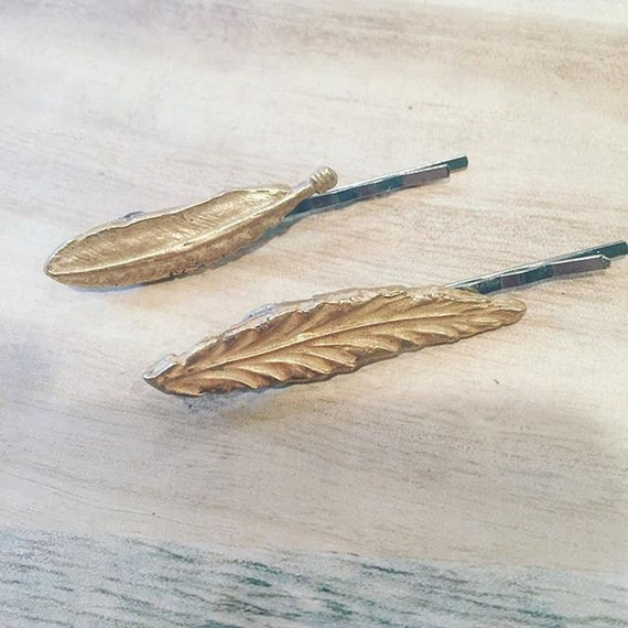 Feather or Leaf Hair Pin