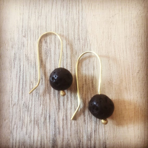 Lava Rock Earrings, Lava Earrings, Essential Oil Earrings, Diffuser Earrings, Essential Oil Jewelry,  Diffuser Jewelry