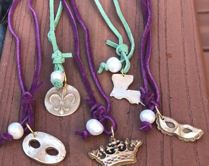Mardi Gras Necklace and Wrist Wrap
