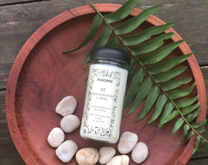 100% Soy Frankincense & Rain Candle
