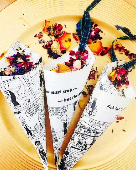 Confetti Cones Scottish Tartan /& Biodegradable Confetti Scotland Theme Wedding