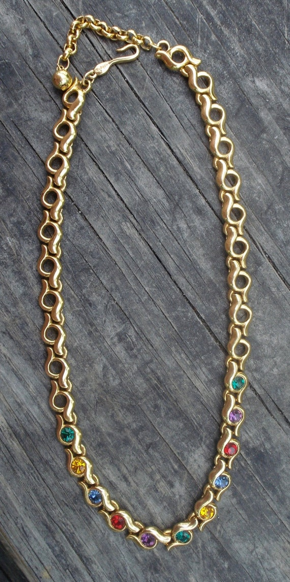 Napier Set Costume Jewelry Rhinestones Necklace Br