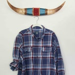 XLarge Vintage Flannel Plaid Button Down, Navy Blue, Maroon, And White Plaid, Not Mystery Flannel