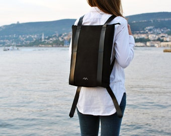 e88e785ca9 Vegetable tanned leather backpack