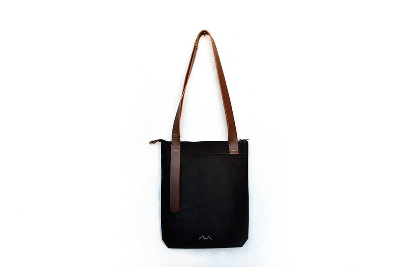 Leather tote with zipper sling bag for men macbook tote  0dc224c3c5eed