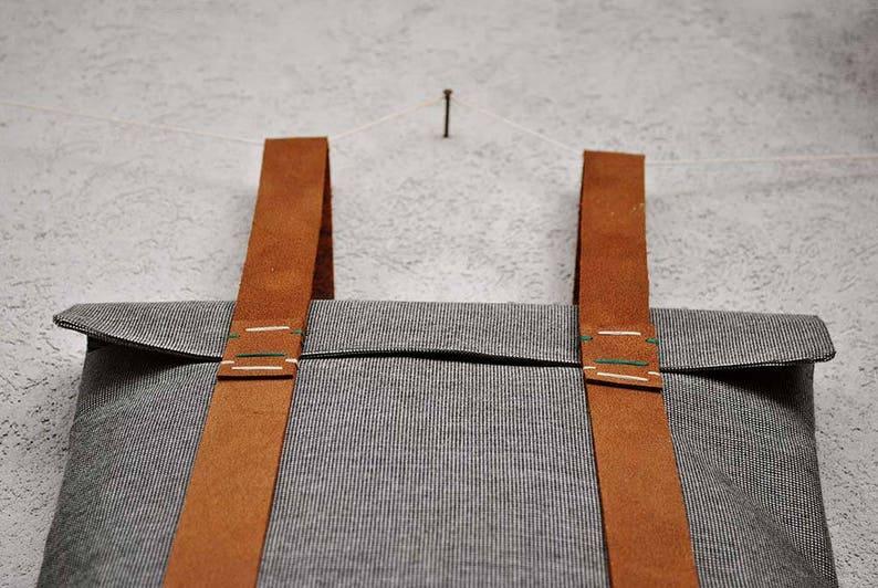 28c891ab93622 Anti-Diebstahl Rucksack leichter Rucksack Leinwand Arbeit