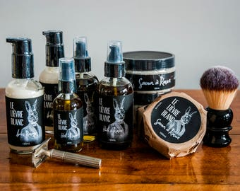 Complete Shaving Kit - Shaving Oil, Shaving Soap and Aftershave Cream - Complete Sensory Experience - Great Men Gift idea - Father's Day