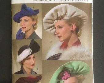 A3 PDF Digital Download Delivery Only # 5260 VOGUE Vintage Fabulous Large Beret Hat /& Muff Set Fabric Sewing Pattern 1940/'s Millinery Copy