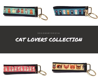 Cat Lovers Lanyard or Keychain Collection