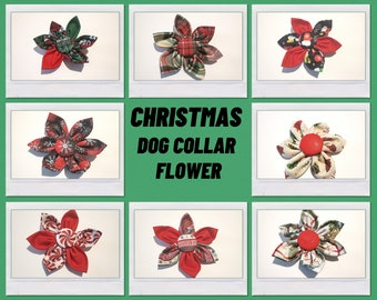 Christmas Dog Collar Flower Collection - Flower For Dog Collar - Pet Collar Bow
