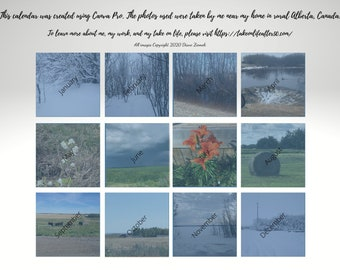 2021 Printable Calendar | Landscape | Scenic Photos | Alberta Photos