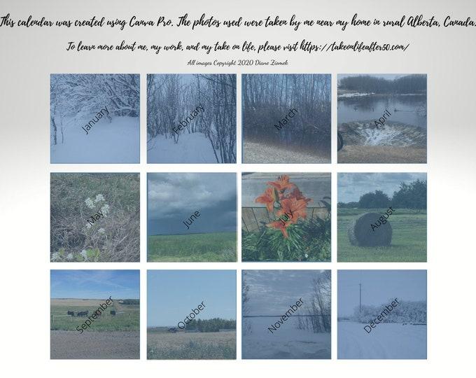 2021 Printable Calendar   Landscape   Scenic Photos   Alberta Photos