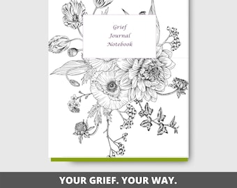 Grief Journal Printable | Mourning and Loss | Grieving | US Letter Size | Notebook