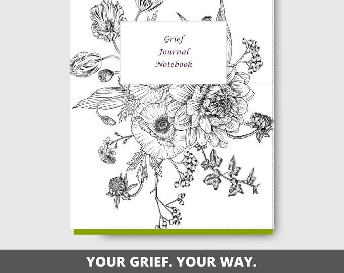 Grief Journal Printable   Mourning and Loss   Grieving   US Letter Size   Notebook