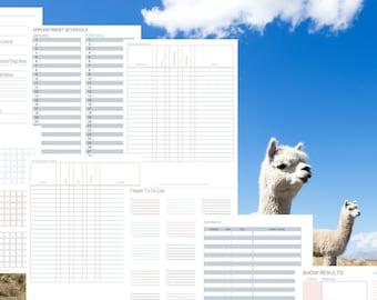 Alpaca Health Record Bundle   Herd Health   Vaccination Record   Husbandry   Income/Expense Records   Printable Animal Records