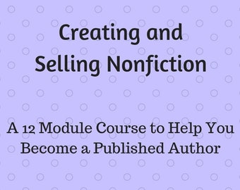 12 Module Writing Course | Digital Download | PDF | Write your own book | Self-improvement | Work from Home