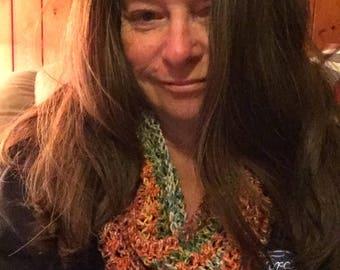 Crocheted Infinity Scarf Pattern; digital download; sock yarn; alpaca yarn; fashion; for her