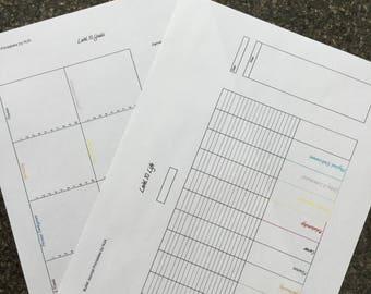 Level 10 Life Printable | BuJo | Bullet Journal | Planner | Journal Insert | Life Planning
