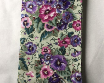 Fabric Notebook Cover; cotton; notebook included