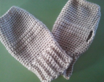 Crocheted Wrist Warmer Pattern - Digital Download; fingerless gloves; texting