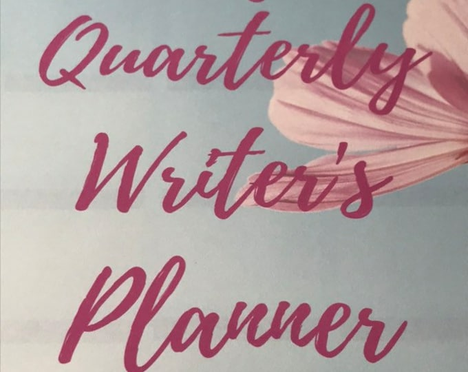Quarterly Undated Writer's Planner | 3 Month Planner | For Writers