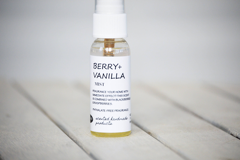 chambre spray d sodorisant maison vanille spray berry spray etsy. Black Bedroom Furniture Sets. Home Design Ideas