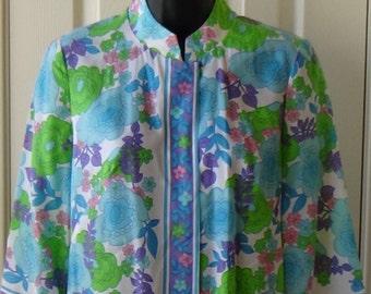 60s // 70s // lounging shirt // lounging top // Evelyn Pearson // pajama shirt // pajama top // vintage