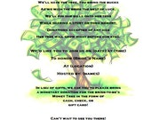 money tree bridal shower invitation