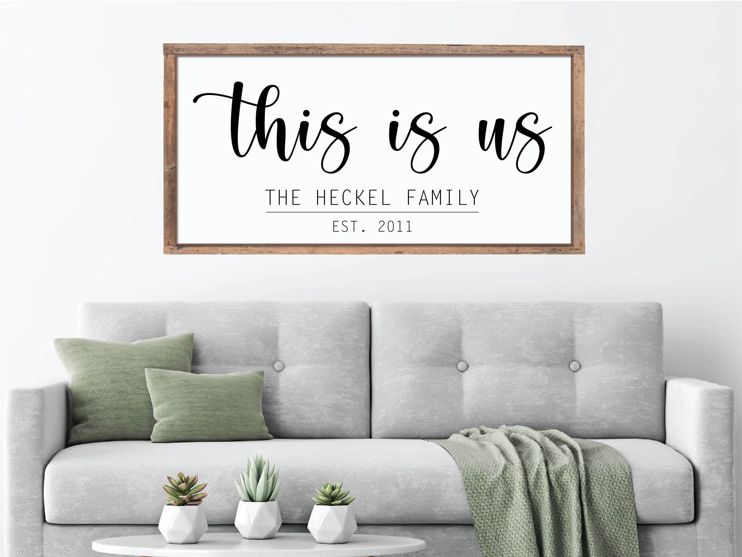 Personalized Family Name This Is Us Large Wood Farmhouse Sign Living Room Wall Decor Gifts For Mom