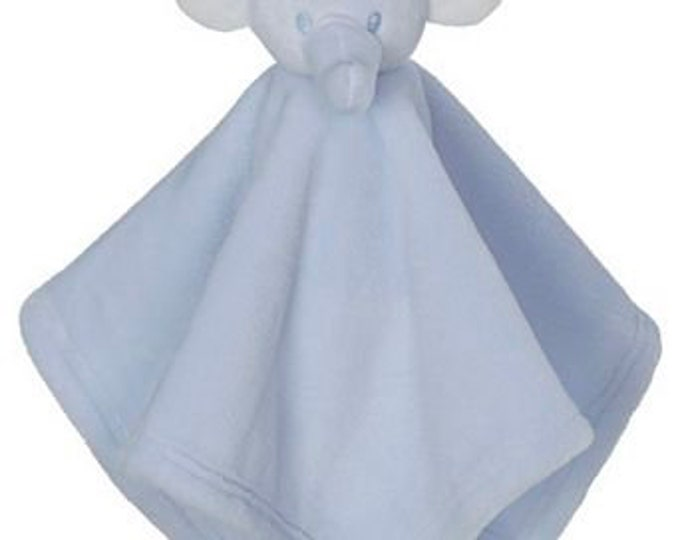 Mini Elephant or Mini Bear Blankey Embroidery Blank - Choose Pink Bear or Blue Elephant