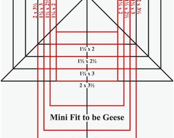 Mini Fit to be Geese Ruler by Open Gate Quilts