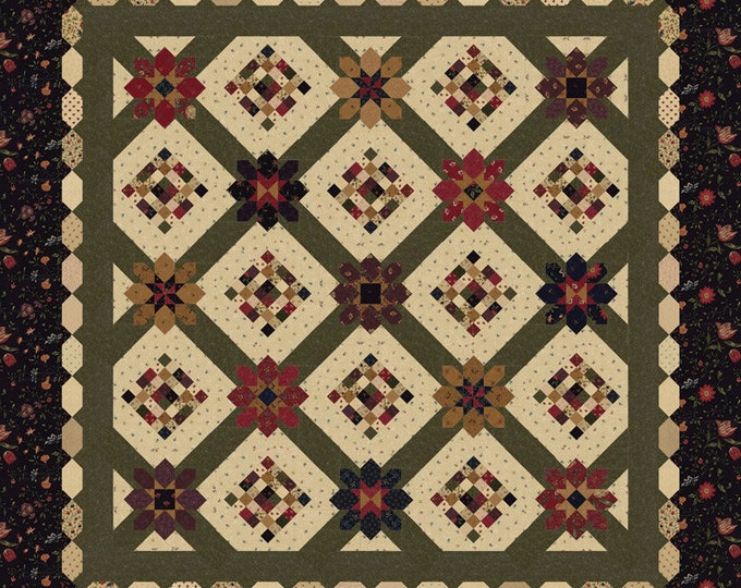 "On Meadowlark Pond Quilt Kit by Kansas Troubles Quilters for Moda 72"" x 72"""