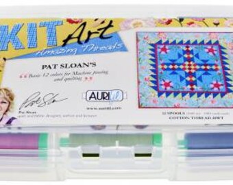 Pat Sloan 40wt Machine Piecing and Quilting Thread Set by Aurifil  Set of 12
