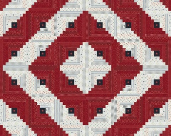 """Star and Stripe Gathering by Primitive Gatherings for Moda Quilt Kit 60"""" x 60"""""""