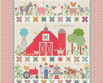 Farm Sweet Farm Quilt Kit by Lori Holt of Bee in my Bonnet for Reily Blake- ***Free** Shipping and Templates