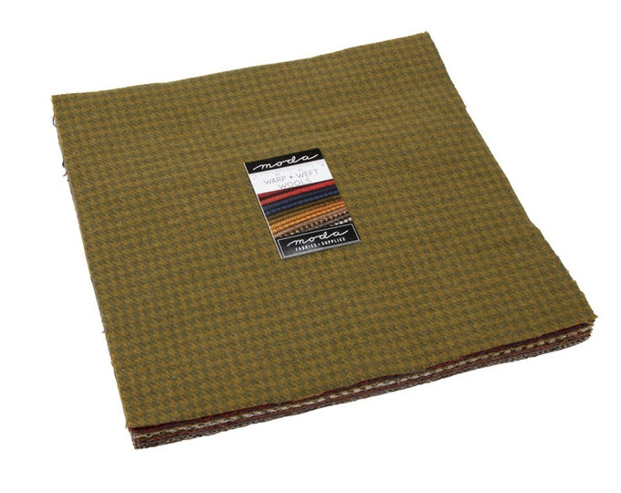 """Wool - Warm Colors by Moda Layer Cake  - 12 - 10"""" Wool Squares"""