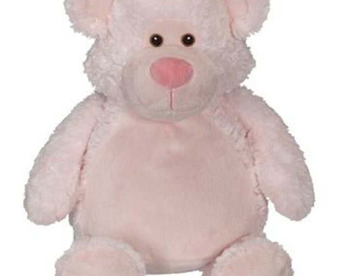 Bobby Buddy Bear Embroidery Blank - Choose Pink or Blue