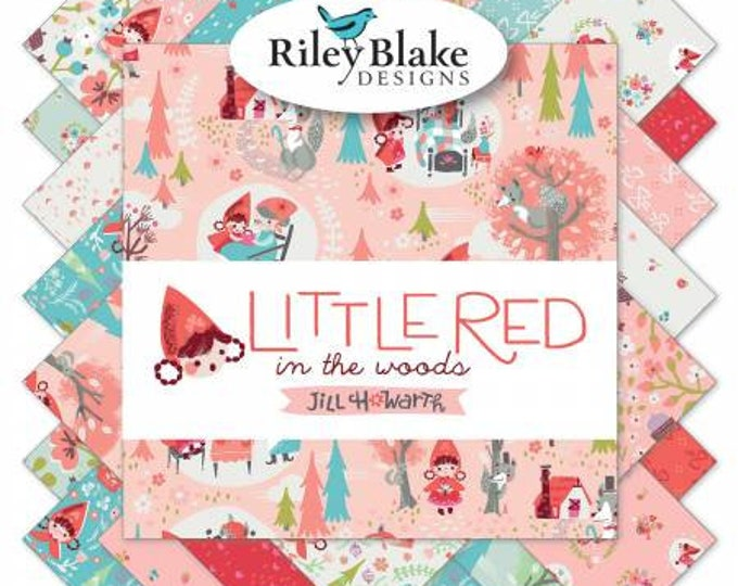 Little Red in the Woods by Jill Howarth for Riley Blake Fat Quarter Bundle 21 FQ