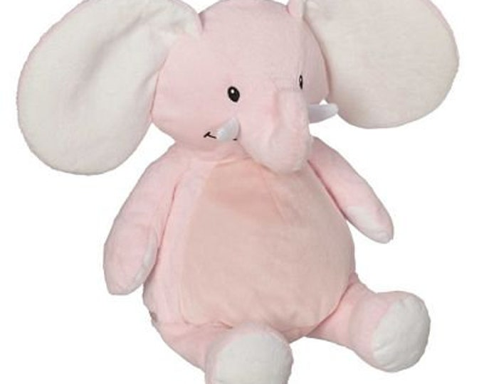 Elephant Embroidery Blank - Choose Pink or Blue