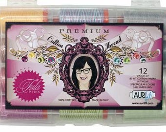 Tula Pink Premium Collection by  Aurifil 50 Wt Set of 12