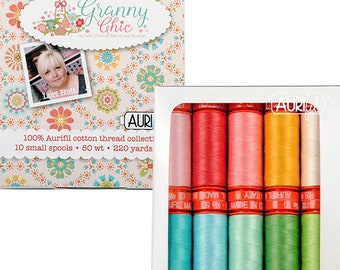 Aurifil AC50SC12 Strawberry Collection 50 Weight 12 Large Spools