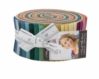 """Grunge by Basic Grey for Moda - New Colors Jelly Roll 40 - 2.5"""" Strips"""