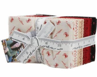 Needle & Thread Gatherings by Primitive Gatherings for Moda Fat Eighth Bundle 35 F8
