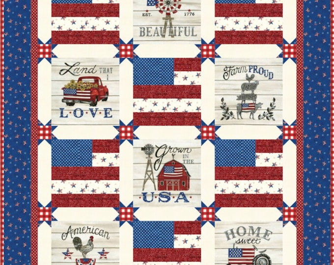 "Land that I Love by Deb Strain for Moda Quilt Kit 48"" x 60"""